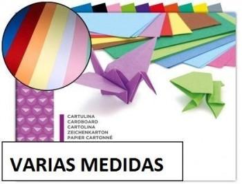 Bloc trabajos manuales cartulina 10 hojas colores surtidos VARIAS MEDIDAS
