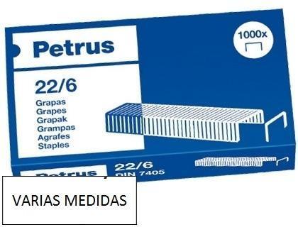Grapas petrus VARIAS MEDIDAS-caja de 1000