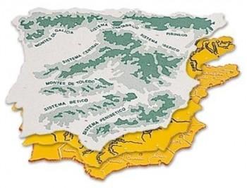 Plantilla plastico mapa españa -bolsa de 3 22x18 cm
