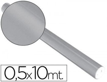 PAPEL METALIZADO PLATA ROLLO CONTINUO DE 0,5 X 10 MT