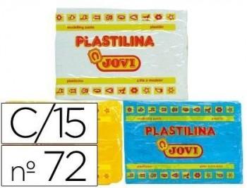 Plastilina jovi 72 surtida -tamaño grande -caja de 15 unidades