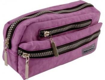 Bolso escolar liderpapel portatodo ovalado 3 bolsillos violeta pastel 195x40x100 mm