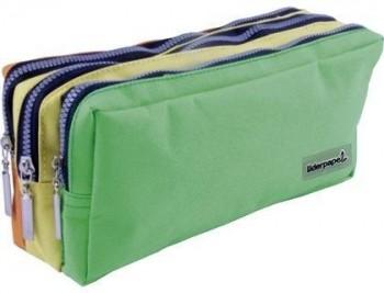 Bolso escolar liderpapel portatodo rectangular 3 bolsillos colores pasteles 195x70x80 mm