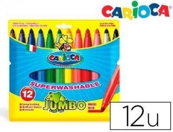 Rotulador carioca jumbo caja colores varios -punta gruesa