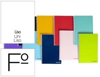 Cuaderno espiral liderpapel folio smart tapa blanda 80h 60gr liso sin margen colores surtidos
