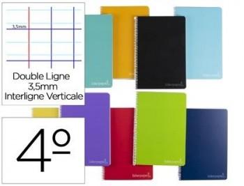 Cuaderno espiral liderpapel cuarto witty tapa dura 80h 75gr rayado montessori 3,5 mm colores surtido
