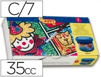 Tempera jovi 35 cc -7 colores surtidos