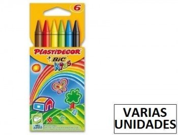 Lapices cera plastidecor caja de colores varios