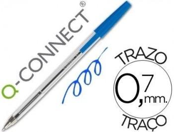 Boligrafo transparente q-connect Trazo 0,7 VARIOS COLORES