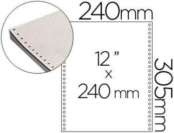 Papel continuo 240x12 blanco -2 hojas -caja de 1500 juegos
