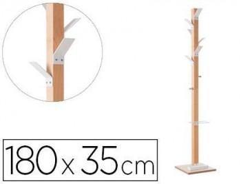 """Perchero madera paperflow haya 8 colgadores con paraguero altura 180 cm """"COLGADORES VARIOS COLORES"""""""