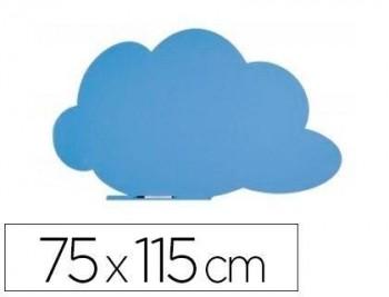 Pizarra rocada nube lacada magnetica sin marco azul 75x115 cm