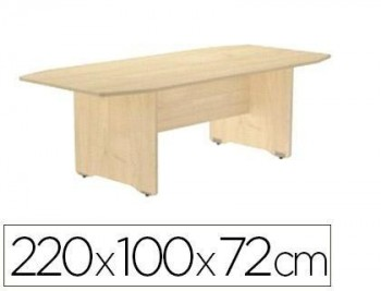 Mesa de reunion rocada meeting 3003aa01 estructura madera 220x100x72 cm VARIOS COLORES