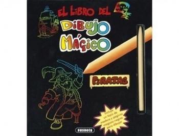 Cuaderno de colorear susaeta el libro del dibujo magico piratas 48 paginas 20,5x21,7 cm