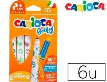 Rotulador carioca baby 2 años caja 6 colores surtidos