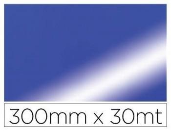 Papel fantasia colibri simple metalizado azul bobina 300 mm x 30 mt