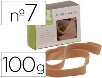Bandas elasticas q-connect 100 gr 70x5 mm numero 7