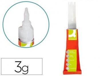Pegamento q-connect adhesivo instantaneo fuerte 3gr unidad
