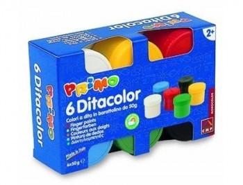 Pintura de dedos primo caja de 6 unidades colores surtidos VARIOS GRM