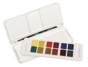 Acuarela daler rowney aquafine travel set con pincel caja de 12 colores surtidos