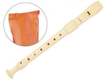Flauta hohner plastico 9516 -desmotable -funda naranja