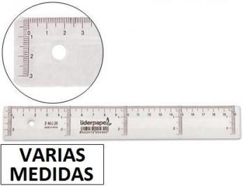 Regla liderpapel plastico cristal VARIAS MEDIDAS