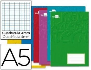 Libreta liderpapel write a5 32 hojas 60g/m2cuadro 4mm con margen