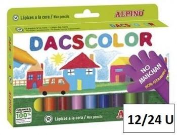 Lapices cera dacscolor caja colores varios