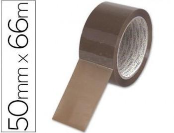 Cinta adhesiva q-connect polipropileno havana 66 mt x 50 mm -para embalaje