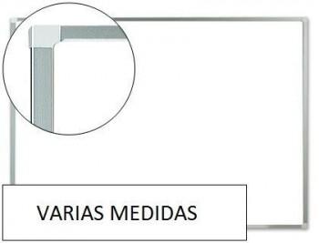 """Pizarra blanca q-connect """"MELAMINA"""" marco de aluminio VARIAS MEDIDAS"""