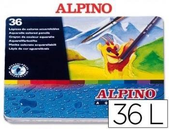 Lapices de colores masats acuarelables caja de 36 unidades