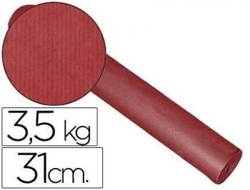 Papel fantasia kraft liso kfc -bobina 31 cm -3,5 kg -color burdeos