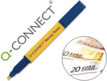 Rotulador money tester pen q-connect para detectar billetes falsos