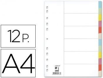 Separador q-connect cartulina juego de 12 separadores din a4-multitaladro