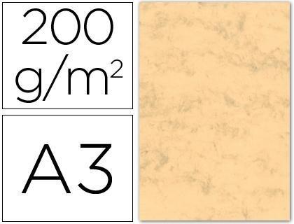 Cartulina marmoleada din a3 200 gr. paquete de 100 h