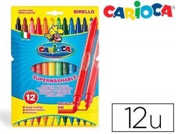 Rotulador carioca birello bipunta caja de colores varios