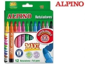 Rotulador alpino maxi -caja de colores surtidos