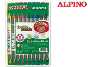 Rotulador alpino double double punta gruesa y punta fina caja de colores surtidos