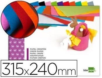 Bloc trabajos manuales liderpapel crespon 240x315mm 10 hojas colores surtidos