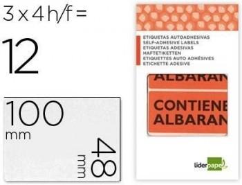 Etiquetas liderpapel contiene albaran sobre de 4 h 100x48mm