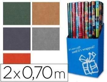 Papel fantasia colores lisos kraft rollo de 2x0,70 mt papel de 60 grs