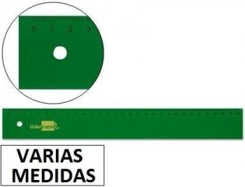 Regla liderpapel acrilico verde VARIAS MEDIDAS