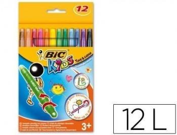 Lapices cera turn&colour bic kids 12 colores