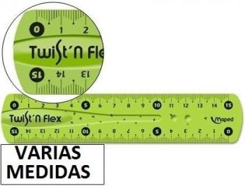 Regla maped plastico flexible de colores surtidos VARIAS MEDIDAS