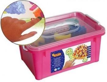 Pintura dedos jovi colores surtidos -set esponja + plantillas