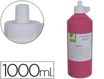 Tempera escolar q-connect 1000 ml rosa