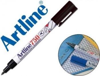 Rotulador artline marcador permanente ek-750 negro punta redonda 0,7 mm