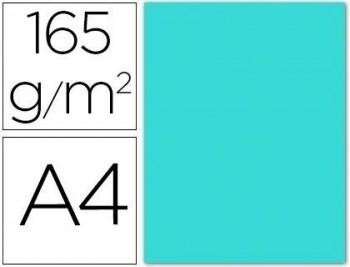 Papel color liderpapel a4 165g / m2  paquete de 9