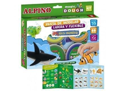 Pasta alpino para modelar magic dough sea world caja de 6 colores de 40 gr