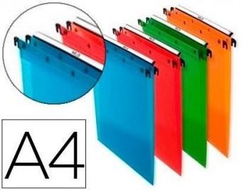 Carpeta colgante Elba DIN A4 PolipropilenoTransparente pack de 10 unidades colores surtidos